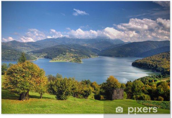 Plakát Krásný podzimní jezero - Roční období