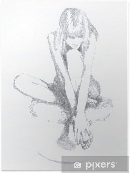 Plakat Kresba Tuzkou Zena Pixers Zijeme Pro Zmenu