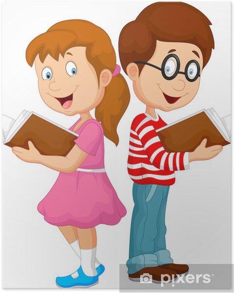 Plakat Kresleny Deti Cteni Knihy Pixers Zijeme Pro Zmenu