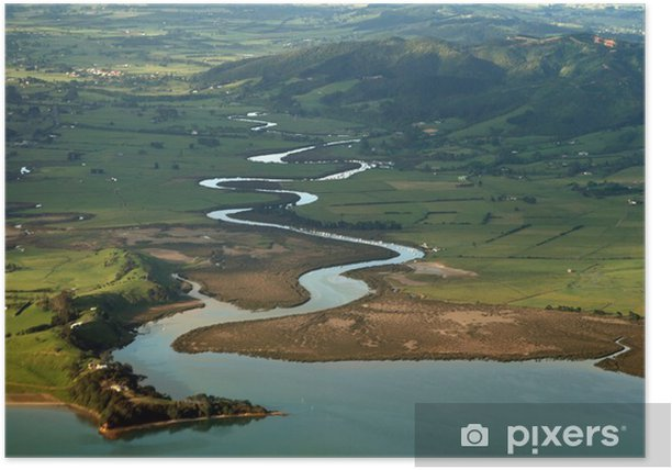 Plakat Kręta rzeka - Oceania