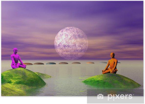 Plakat Kroki i Budda i gór - Buddyzm