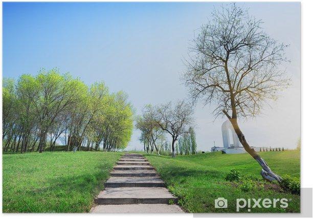 Plakat Kroki w parku - Pory roku