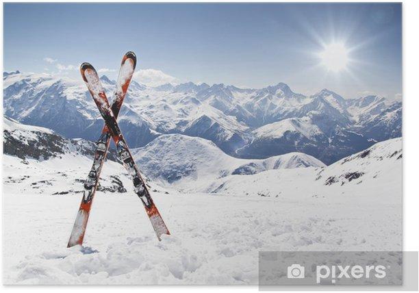 Plakat Krzyż nartach - Sport