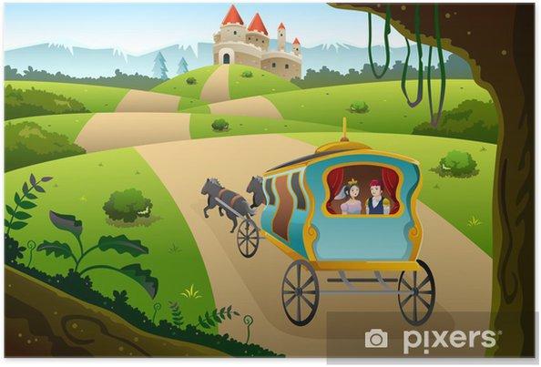 Plakat Książę i księżniczka, jazda na wagon - Przeznaczenia