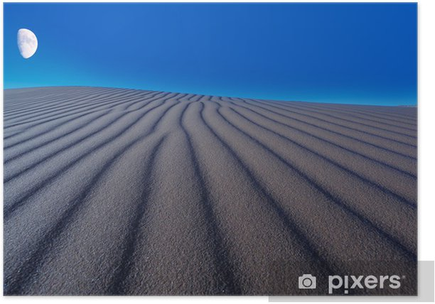 Plakat Księżyc podniósł Pustynia Namib - Pustynia