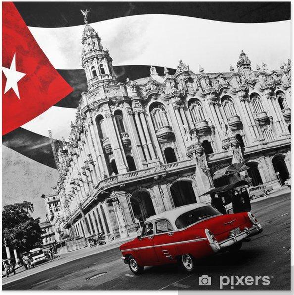 Plakat Kuba (n & b) -