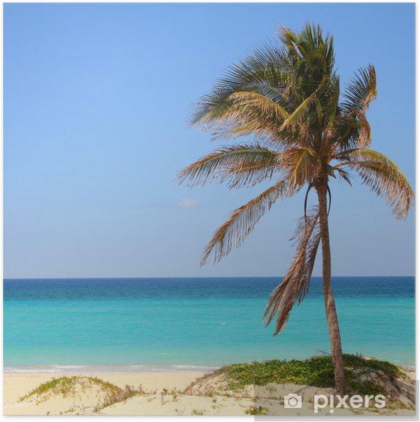 Plakat Kuba - Playa Megano - Tematy