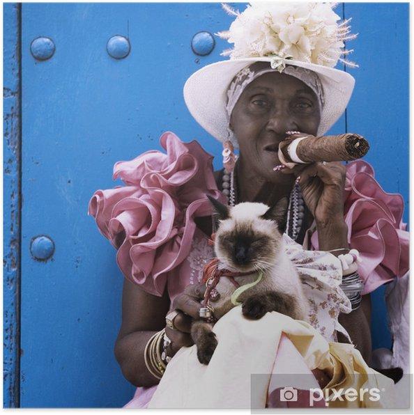 Plakat Kubańskie cygaro dama - Tematy