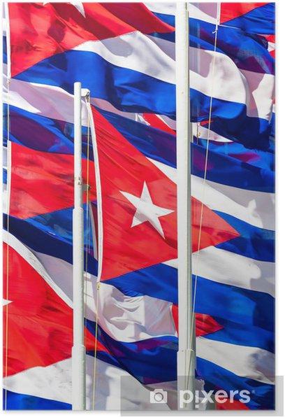 Plakat Kubańskie flagi w tle - Tematy