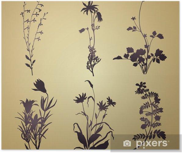 Plakat Kwiatowe motywy roślinne, karta ślub, Royal India - Świętowanie