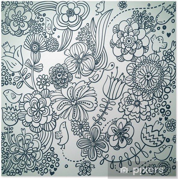 Plakat Kwiatowy wzór - Style