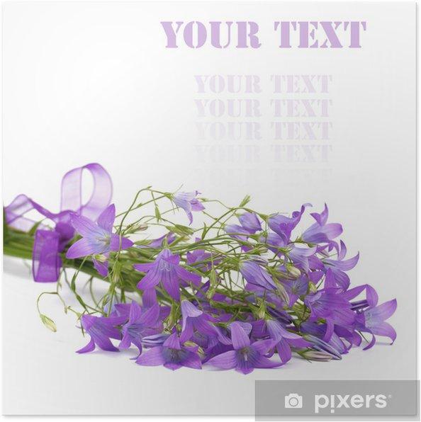 Plakat Kwiaty dzwonek - Kwiaty