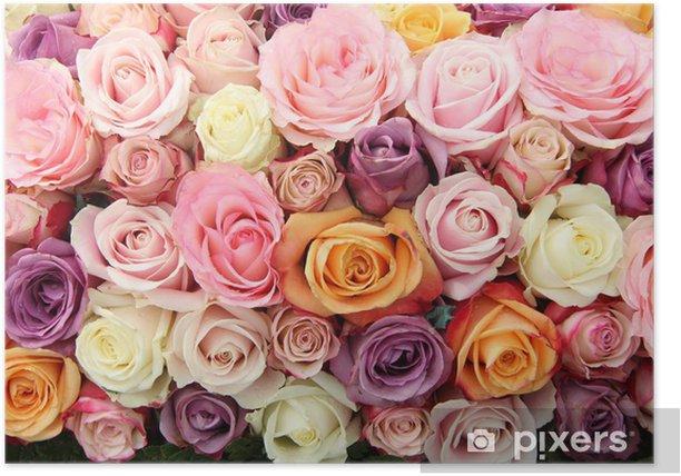 Plakat Kwiaty w pastelowych odcieniach - Świętowanie