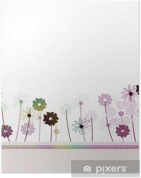 Plakat Kwiecista łąka - Kwiaty