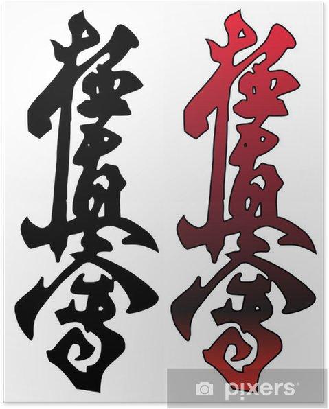 Plakat Kyokushinkay karate symbol - Znaki i symbole