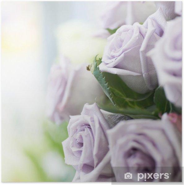 Plakát Kytice krásných růží - Květiny