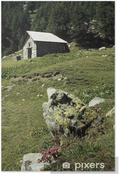 Plakát La Chapelle des Séyères (2056 m). Embrunais, Hautes-Alpes (05) - Hory