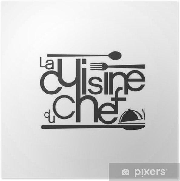 Plakat La cuisine du chef - Zasoby graficzne