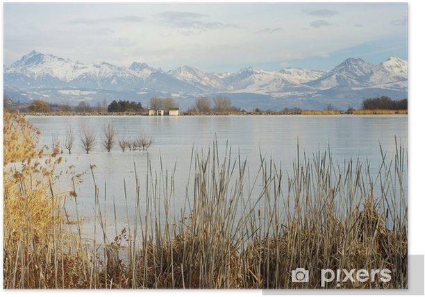 Plakát Lac de pelleautier Gele, Hautes-Alpes, Francie - Outdoorové sporty