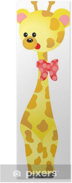 Plakat Ładny żyrafa - Ssaki