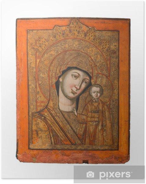 Plakát Lady typu Kazan ikonu, Panny Marie a Ježíše, 19. století - Veřejné budovy