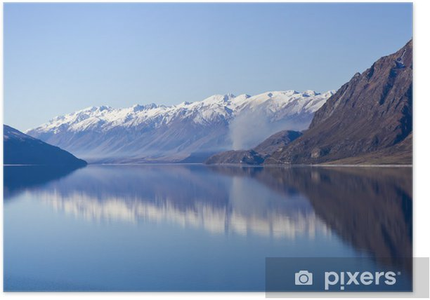 Plakat Lake Hawea - Woda