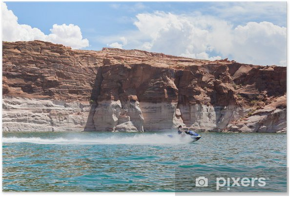 Plakat Lake Powell, Glen Canyon w Utah i Arizonie - Ameryka