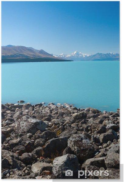 Plakat Lake Pukaki, Nowa Zelandia - Oceania