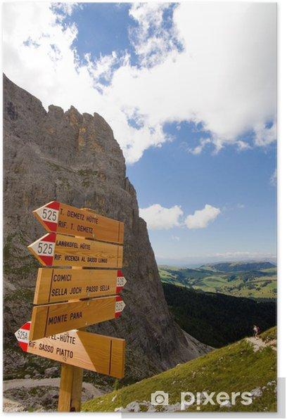 Plakát Langkofelkar mit Blick auf die Seiser Alm - Dolomiten - Alpen - Evropa