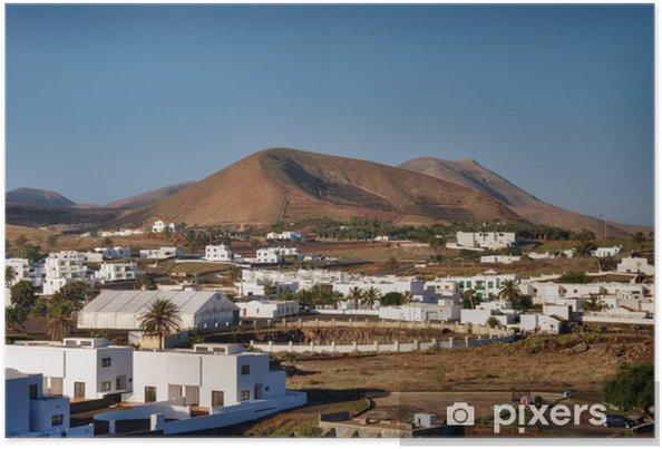 Plakat Lanzarote krajobraz - Europa