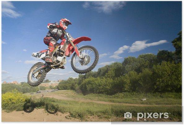 Plakat Latające moto - Sporty ekstremalne