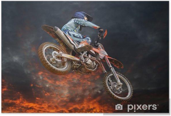 Plakat Latające Motocross Fire Storm - Rozrywka