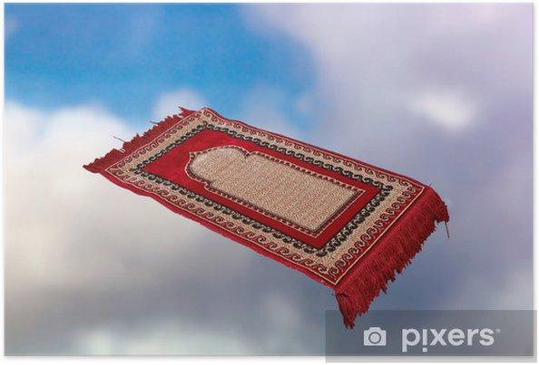 Plakat Latający Dywan W Chmurach