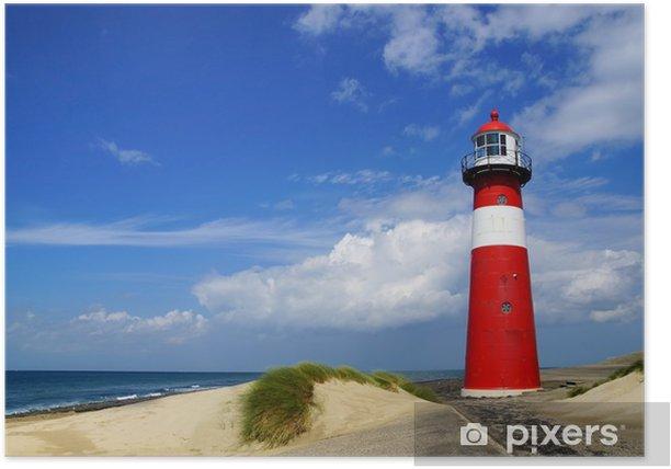 Plakat Latarnia morska. Westkapelle, Holandia - Latarnia morska