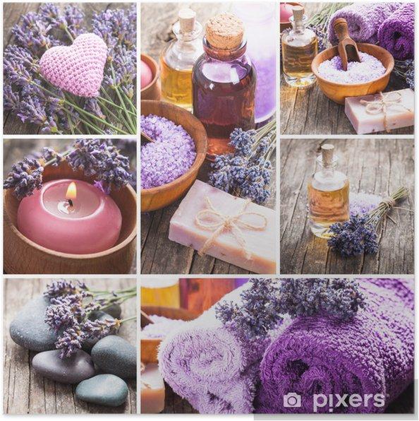 Plakat Lavender spa - Uroda i pielęgnacja ciała