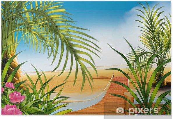 Plakát Lávka na pláži - Voda