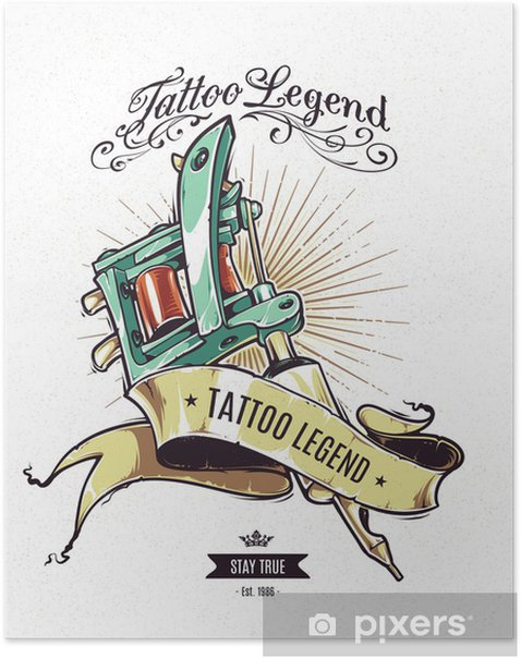 Plakat Legenda Tattoo plakat - Tekstury