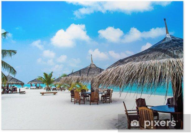 Plakát Lehátka pod palmami - Pláže a tropy
