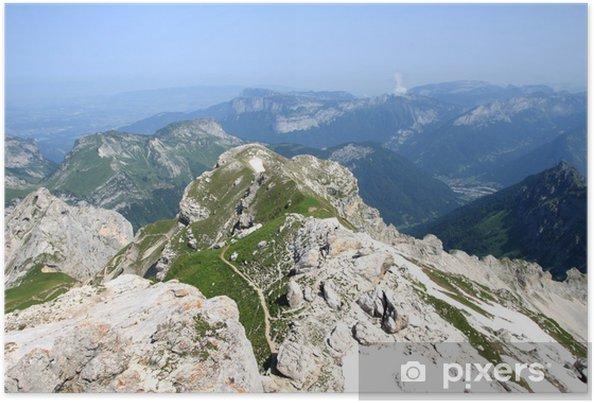 Plakát Les Aravis depuis le sommet de la Tournette, Haute-Savoie - Evropa