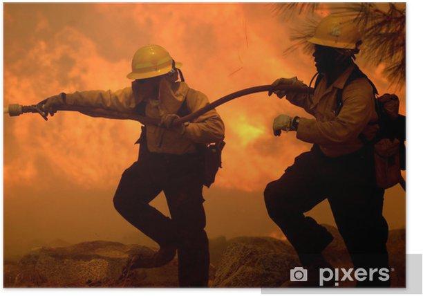 Plakat Leśnictwo Strażacy - Zawody