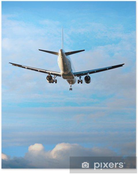 Plakát Letadlo na modré obloze - Vzduch