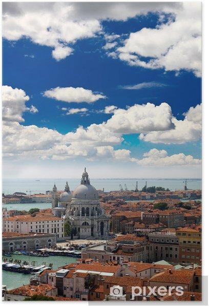 Plakát Letecký pohled na město Benátky - Evropská města