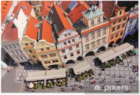 Plakát Letecký pohled na Staroměstské náměstí, Praha, Česká republika - Evropská města