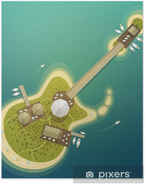 Plakat Letnie wakacje. Island Resorts - Wakacje