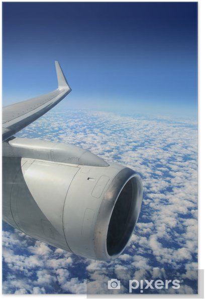 Plakát Letoun letadla křídla turbíny létání - Nebe