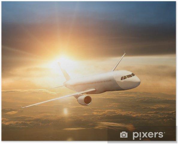 Plakát Letoun při západu slunce / svítání - Vzduch
