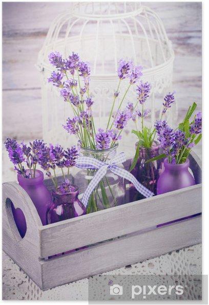 Plakát Levandule v lahvích dekor - Styly