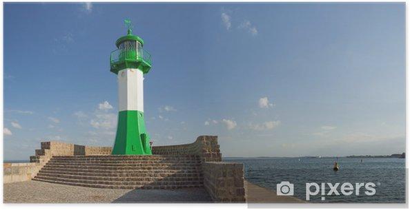 Plakat Lighthouse, Rugia, Sassnitz port, molo, Baltic - Europa