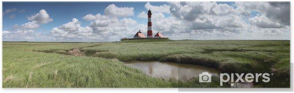 Plakát Lighthouse Westerheversand panorama - Prázdniny