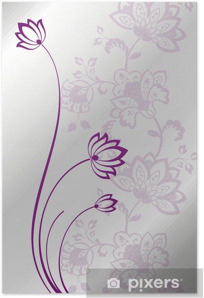 Plakat Lilie wodne, projekt karty ślub, indie - Świętowanie